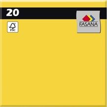 FASANA Serviette 209428 33x33cm 3lagig sonnengelb 20 St./Pack.