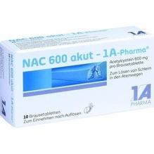 Nac 600 akut 1A Pharma Brausetabletten 10 St