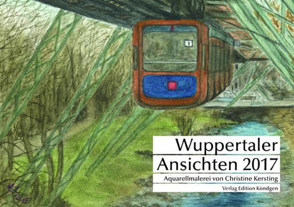 Wuppertaler Ansichten 2017, Aquarellmalerei von Christine Kersting