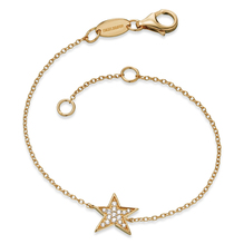 Engelsrufer Armband Stern, 925er-Sterlingsilber rhodiniert 18K gold. ERB-LILSTAR-ZI-G