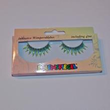 Wimpern grün/gelb metallic