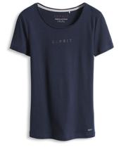 Dichtes Baumwoll-Shirt mit Nieten-Logo
