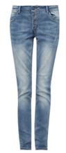 Smart Slim: Used-Jeans mit Knofpleiste