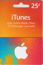 iTunes Guthaben Karte 25€