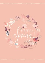 Karte Happy Spring