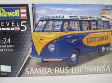 RE07436 Revell VW T1 Samba Bus Lufthansa 1:24