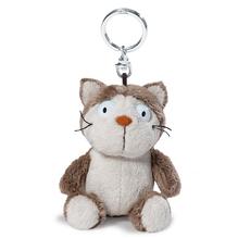 Nici Plüsch Schlüsselanhänger 'Comic Cats Katze Lazy' 10cm Bean Bag