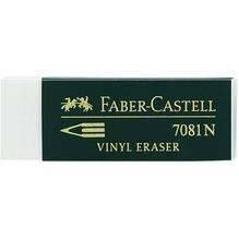 Faber-Castell Radierer Vinyl Eraser 7081 N 188121 Kunststoff weiß