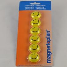 Magnete Smiley Gelb/Schwarz