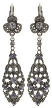 Konplott Ohrring eurowire dangling Nostalgia lila antique silver