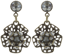 Konplott Ohrring stud dangling Flamenco grey extra small antique brass