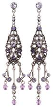Konplott Ohrring stud dangling Nostalgia lila antique silver