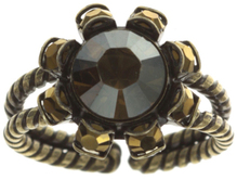 Konplott Ring Tropical black/brown antique brass