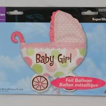 Folienballon SuperShape 'Baby Girl' inkl. Helium