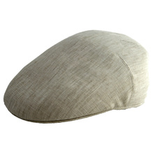 Stetson Hut Sussex Linen Flatcap Uni Leinen Kappe beige