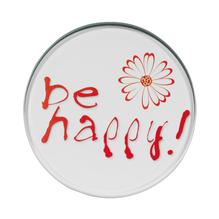 Glasuntersetzer Be Happy - Set À 4Stück