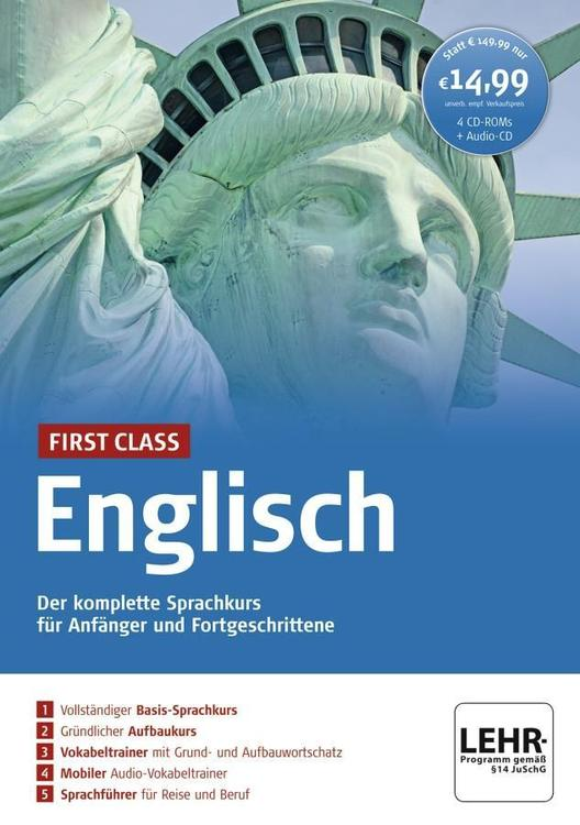 First Class Englisch. Paket: 4 CD-ROMs + Audio-CD