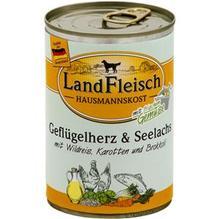 Landfleisch Hausmannskost Geflügelherz&Seelachs 12x400g