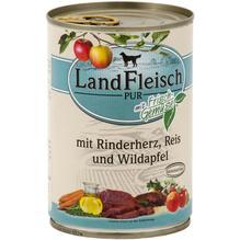 Landfleisch Pur Rinderherz,Reis&Wildapfel