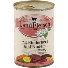 Landfleisch Pur Rinderherz & Nudeln