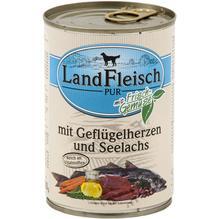 Landfleisch Pur Geflügelherzen&Seelachs