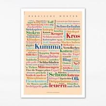 Poster Bergische Wörter, 30 x 40 cm