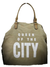 Tasche queen of the city beige