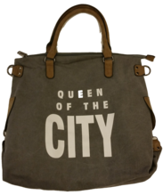 Tasche mit queen of the city grau