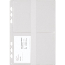 Chronoplan Visitenkartenhülle 50384 150x210mm transparent 3 St./Pack.