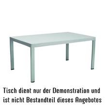 Abdeckhaube für Tischplatte  180x100cm - silbergrau