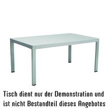 Abdeckhaube für Tischplatte  160x 100cm - silbergrau