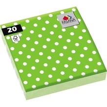 FASANA Serviette 212942 33x33cm 3lagig Punkte grün 20 St./Pack.