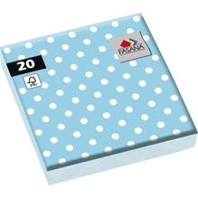 FASANA Serviette 212950 33x33cm 3lagig Punkte hellblau 20 St./Pack.