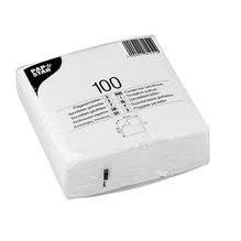 PAPSTAR Serviette 81451 33x33cm 1lagig weiß 100 St./Pack.