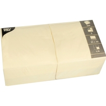 PAPSTAR Serviette 12478 33x33cm 3lagig creme 250 St./Pack.