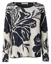 Pullover Blumenjacquard