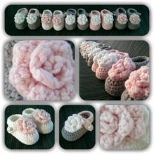 Häkelanleitung - Babyschühchen ...Roses