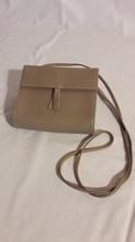 Mini-Leder- Handtasche für  Damen, Farbe: taupe