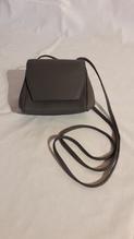 Mini- Leder-Handtasche für Damen, Farbe: grau