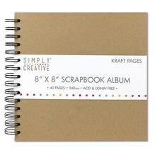 Scrapbook Album Plain, 20,3x20,3cm, 40 Seiten