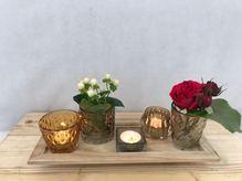 dekoratives Teelicht oder Vasen Set ''KLEIN''