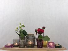 dekoratives Teelicht oder Vasen Set  ''GROß''