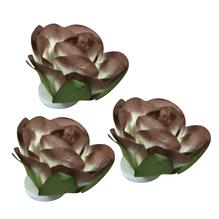Papier Blüten, 25mm ø, Beutel 8Stück, nougat