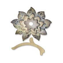 Sizzix Originals Flower Layers&Stem, SB-Blister 1Stück, 5,08x4,76cm-0,64x0,32cm