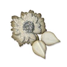 Sizzix Originals Flower Layers w/Leaf 2, SB-Blister 1Stück, 4,45x4,76cm-1,27x1,27cm