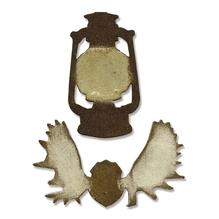 Sizzix Movers&Shapers Magnetic Set, Mini Lantern&Antlers,T.Holtz,SB-Bli 2 St, 7,62x4,45cm-3,81x6,35cm