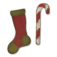 Sizzix Movers&Shapers Magnetic Set, Stocking&Candy Cane,T.Holtz,SB-Bli 2 St, 3,81x6,67cm-2,22x6,67cm