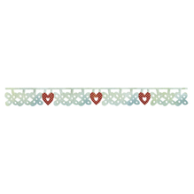 Sizzix Sizzlits Deco.Strip, Flower&Heart Charms, SB-Blister 1Stück, 30,48cmx3,18cm