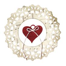 Sizzix Thinlits Set- Doily,Jewel Heart, SB-Blister 2Stück, 10,80x10,80cm-3,81x3,81cm