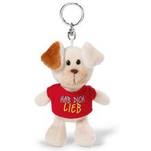 Nici Love Hund mit T-Shirt 'Hab dich lieb' Schlüsselanhänger, 10cm